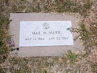 MARR, MAE M. - La Plata County, Colorado | MAE M. MARR - Colorado Gravestone Photos
