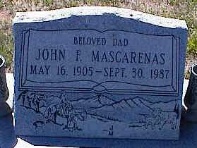 MASCARENAS, JOHN F. - La Plata County, Colorado | JOHN F. MASCARENAS - Colorado Gravestone Photos