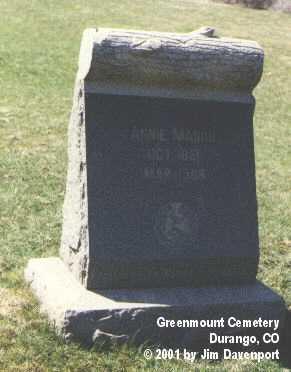 MASON, ANNIE - La Plata County, Colorado | ANNIE MASON - Colorado Gravestone Photos