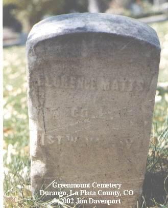 MATTS, FLORENCE - La Plata County, Colorado | FLORENCE MATTS - Colorado Gravestone Photos