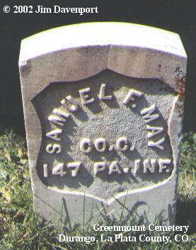 MAY, SAMUEL F. - La Plata County, Colorado | SAMUEL F. MAY - Colorado Gravestone Photos