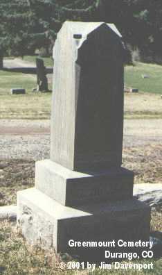 MCHOLLAND, J. H. - La Plata County, Colorado | J. H. MCHOLLAND - Colorado Gravestone Photos