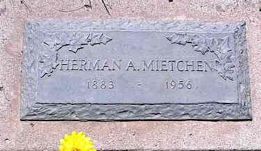 MIETCHEN, HERMAN A. - La Plata County, Colorado | HERMAN A. MIETCHEN - Colorado Gravestone Photos