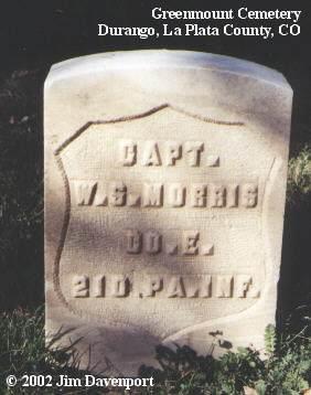 MORRIS, W. S. - La Plata County, Colorado | W. S. MORRIS - Colorado Gravestone Photos