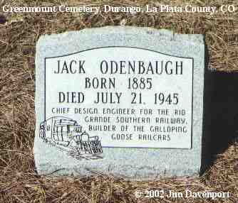 ODENBAUGH, JACK - La Plata County, Colorado | JACK ODENBAUGH - Colorado Gravestone Photos