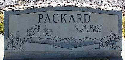 PACKARD, JOE I. - La Plata County, Colorado | JOE I. PACKARD - Colorado Gravestone Photos