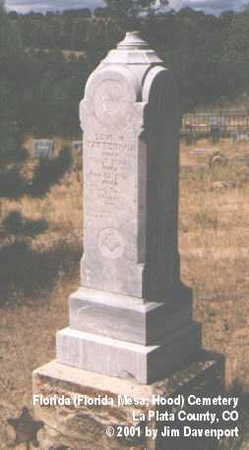 PATTERSON, LEVI H. - La Plata County, Colorado | LEVI H. PATTERSON - Colorado Gravestone Photos