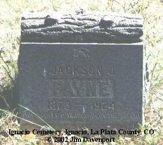 PAYNE, JACKSON J. - La Plata County, Colorado | JACKSON J. PAYNE - Colorado Gravestone Photos