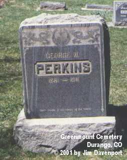 PERKINS, GEORGE W. - La Plata County, Colorado   GEORGE W. PERKINS - Colorado Gravestone Photos