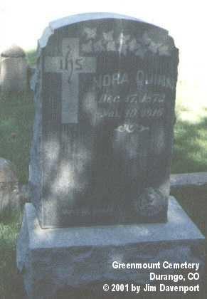 QUINN, NORA - La Plata County, Colorado | NORA QUINN - Colorado Gravestone Photos