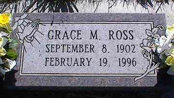 ROSS, GRACE M. - La Plata County, Colorado | GRACE M. ROSS - Colorado Gravestone Photos