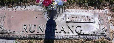 RUNSHANG, GEORGE E. - La Plata County, Colorado | GEORGE E. RUNSHANG - Colorado Gravestone Photos