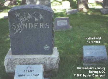 SANDERS, KATHERINE M. - La Plata County, Colorado | KATHERINE M. SANDERS - Colorado Gravestone Photos