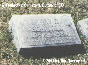 SCOUTON, HENRY R. - La Plata County, Colorado | HENRY R. SCOUTON - Colorado Gravestone Photos
