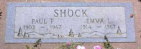 SHOCK, PAUL F. - La Plata County, Colorado | PAUL F. SHOCK - Colorado Gravestone Photos