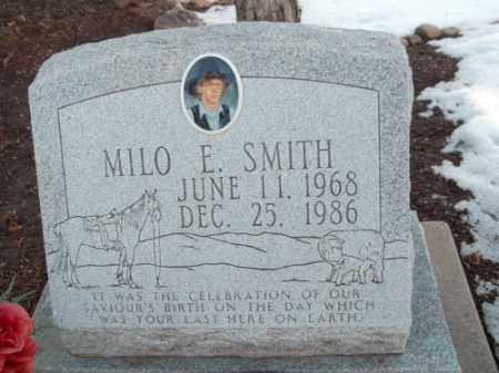 SMITH, MILO E. - La Plata County, Colorado   MILO E. SMITH - Colorado Gravestone Photos