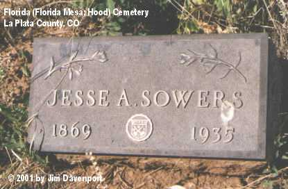 SOWERS, JESSE A. - La Plata County, Colorado | JESSE A. SOWERS - Colorado Gravestone Photos