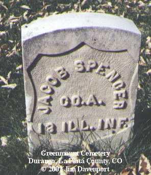 SPENCER, JACOB - La Plata County, Colorado | JACOB SPENCER - Colorado Gravestone Photos