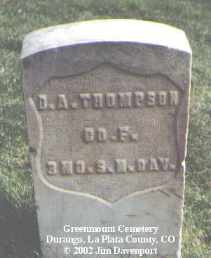 THOMPSON, D. A. - La Plata County, Colorado | D. A. THOMPSON - Colorado Gravestone Photos