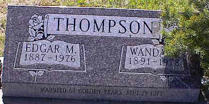 THOMPSON, EDGAR M. - La Plata County, Colorado | EDGAR M. THOMPSON - Colorado Gravestone Photos