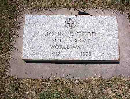 TODD, JOHN E. - La Plata County, Colorado   JOHN E. TODD - Colorado Gravestone Photos