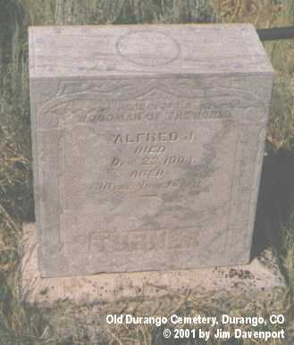 TURNER, ALFRED J. - La Plata County, Colorado | ALFRED J. TURNER - Colorado Gravestone Photos