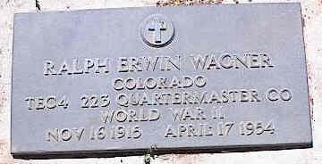 WAGNER, RALPH ERWIN - La Plata County, Colorado | RALPH ERWIN WAGNER - Colorado Gravestone Photos