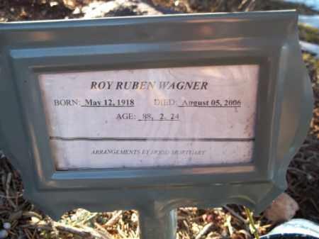 WAGNER, ROY RUBEN - La Plata County, Colorado | ROY RUBEN WAGNER - Colorado Gravestone Photos
