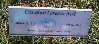 WALL, CRAWFORD LORENZA - La Plata County, Colorado | CRAWFORD LORENZA WALL - Colorado Gravestone Photos