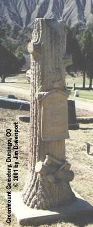 WALLACE, JOSEPH W. - La Plata County, Colorado | JOSEPH W. WALLACE - Colorado Gravestone Photos
