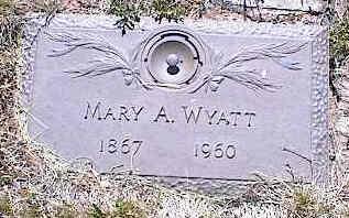 WYATT, MARY A. - La Plata County, Colorado | MARY A. WYATT - Colorado Gravestone Photos