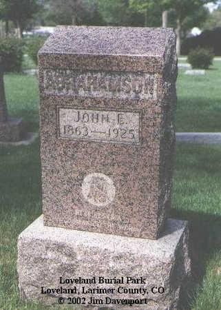 ABRAHAMSON, JOHN E. - Larimer County, Colorado | JOHN E. ABRAHAMSON - Colorado Gravestone Photos