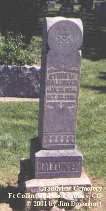 BALLINGER, CYRUS W. - Larimer County, Colorado | CYRUS W. BALLINGER - Colorado Gravestone Photos
