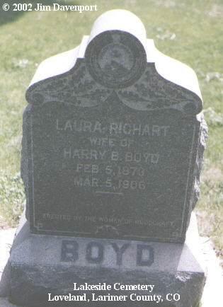 BOYD, LAURA - Larimer County, Colorado | LAURA BOYD - Colorado Gravestone Photos