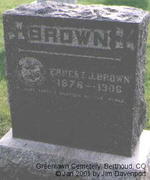 BROWN, ERNEST J. - Larimer County, Colorado   ERNEST J. BROWN - Colorado Gravestone Photos