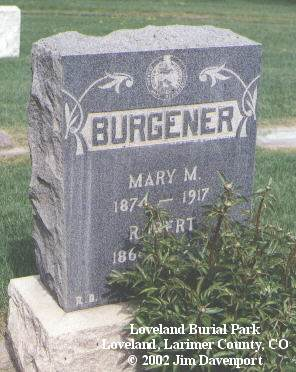BURGENER, ROBERT - Larimer County, Colorado | ROBERT BURGENER - Colorado Gravestone Photos