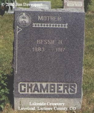 CHAMBERS, BESSIE H. - Larimer County, Colorado | BESSIE H. CHAMBERS - Colorado Gravestone Photos