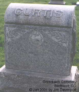 CURTIS, S. F. - Larimer County, Colorado | S. F. CURTIS - Colorado Gravestone Photos