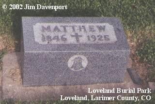 DALEY, MATTHEW - Larimer County, Colorado   MATTHEW DALEY - Colorado Gravestone Photos
