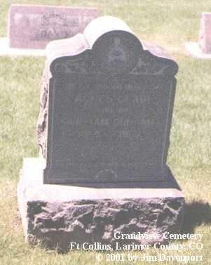 DUNHAM, AGNES CLAIR - Larimer County, Colorado | AGNES CLAIR DUNHAM - Colorado Gravestone Photos