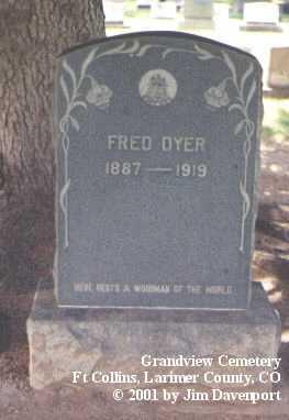 DYER, FRED - Larimer County, Colorado | FRED DYER - Colorado Gravestone Photos