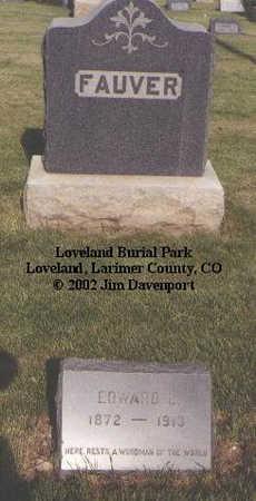 FAUVER, EDWARD E. - Larimer County, Colorado | EDWARD E. FAUVER - Colorado Gravestone Photos