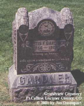 GARDNER, CURTIS F. - Larimer County, Colorado   CURTIS F. GARDNER - Colorado Gravestone Photos