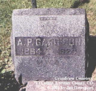 GARRISON, A. P. - Larimer County, Colorado | A. P. GARRISON - Colorado Gravestone Photos
