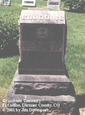 GOODDING, JOSEPH A. - Larimer County, Colorado | JOSEPH A. GOODDING - Colorado Gravestone Photos
