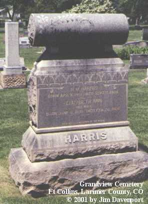 HARRIS, ELIZABETH ANN - Larimer County, Colorado | ELIZABETH ANN HARRIS - Colorado Gravestone Photos
