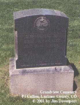 HARRIS, D. M. JR. - Larimer County, Colorado | D. M. JR. HARRIS - Colorado Gravestone Photos