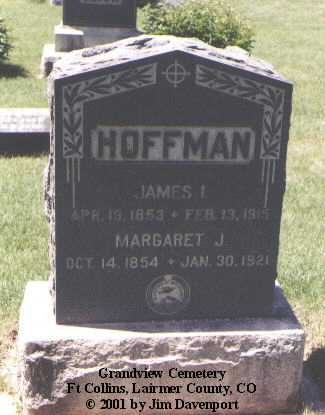 HOFFMAN, JAMES I. - Larimer County, Colorado | JAMES I. HOFFMAN - Colorado Gravestone Photos