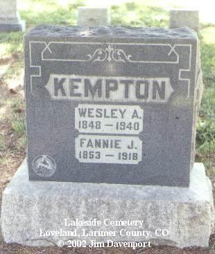 KEMPTON, WESLEY A. - Larimer County, Colorado | WESLEY A. KEMPTON - Colorado Gravestone Photos