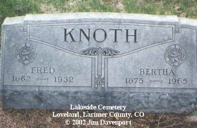 KNOTH, FRED - Larimer County, Colorado | FRED KNOTH - Colorado Gravestone Photos